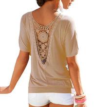 2016 Fashion Summer Lace Loose tumblr blusa female T-Shirt Women Tops Crop top Short Sleeve t shirt tee femme A2 - Fantaisie store