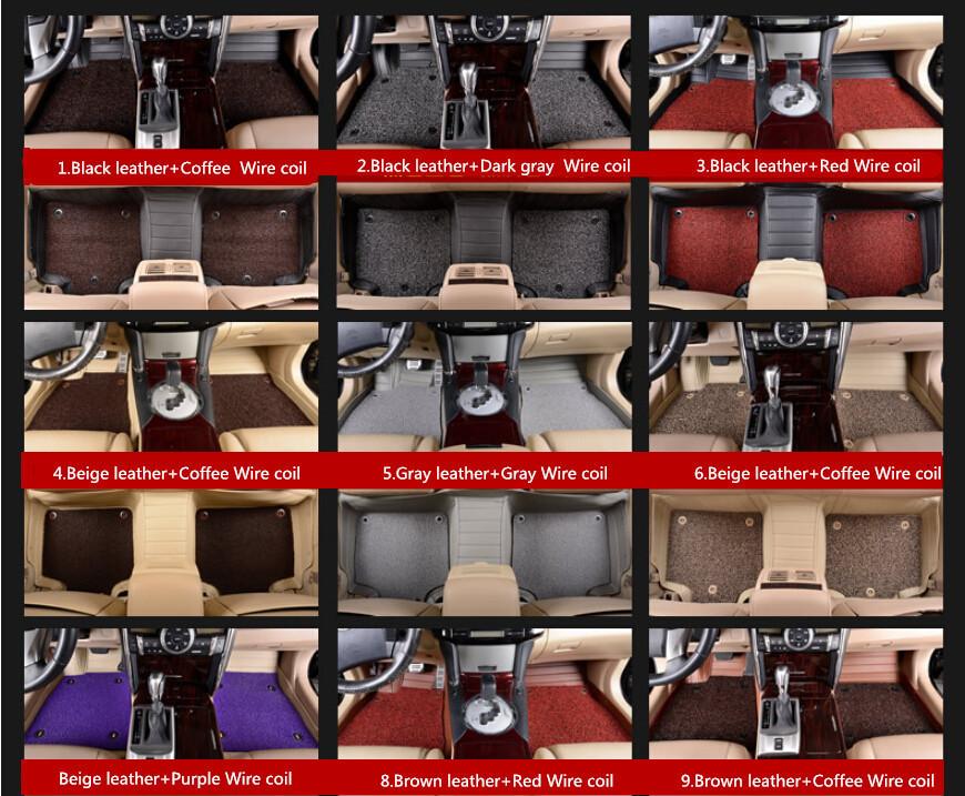 Two layers!Hight quality Car foot mat,Step mat,Auto Floor Mats for Volkswagen/VW Tiguan/Golf R/Touareg/Phaeton/Cross Lavida(China (Mainland))