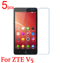 5pcs Ultra Clear LCD Screen Protector Film Cover For ZTE V5 Red Bull U9180 N9180 Protective Film + cloth Free Shipping