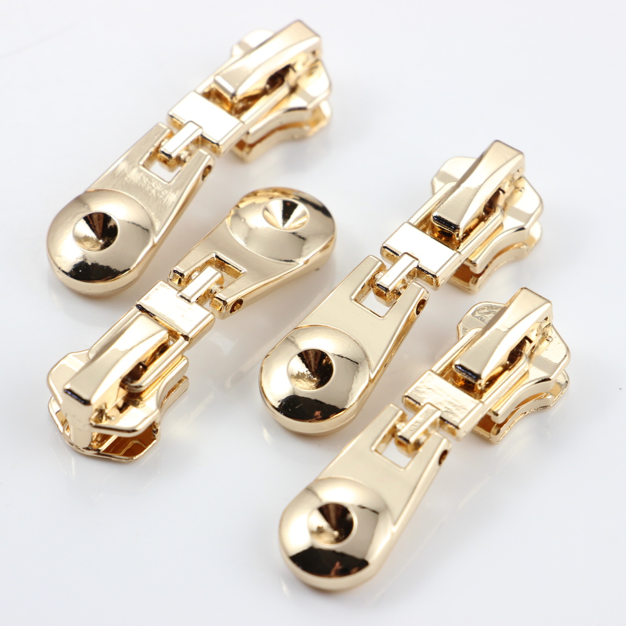 Zippers For Sewing Zippers 100 Pcs [factory Direct Sales] 5# Metal Zipper Head Pull The Of A Piece Of Fashion Bottom Of Circular(China (Mainland))