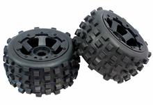 Buy RC Car Off-Road Knobby Rear Tire tyre nylon wheel hub Set Rovan HPI Baja 5B King Motor Buggy 1/5 for $52.00 in AliExpress store