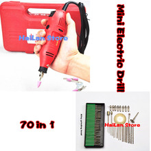 FreeShipping Mini electric drill+ 70pcs grinding accessories  Multifunction Engraving machine Electric tool set kit