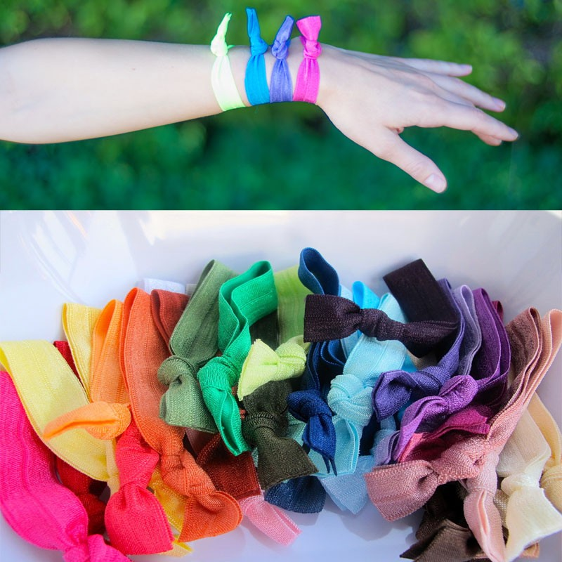 DHL free shipping Hair Bands 50 color mixing 2000pcs/lot Elastic Goody Ouchless Ribbon Girls Hair Accessorie Yoga Hair Ties(China (Mainland))