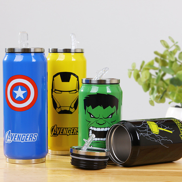 Stainless steel Avengers flask