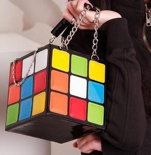 Fashion Promotion Handbag Purse Gift,Girl Women's Cute Magic Cube Bag Products Q172(China (Mainland))