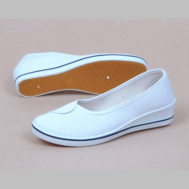 Women work workshop site training nurses white cotton cloth shoes round head hotel work shoes doctors antibacterial size34-40(China (Mainland))