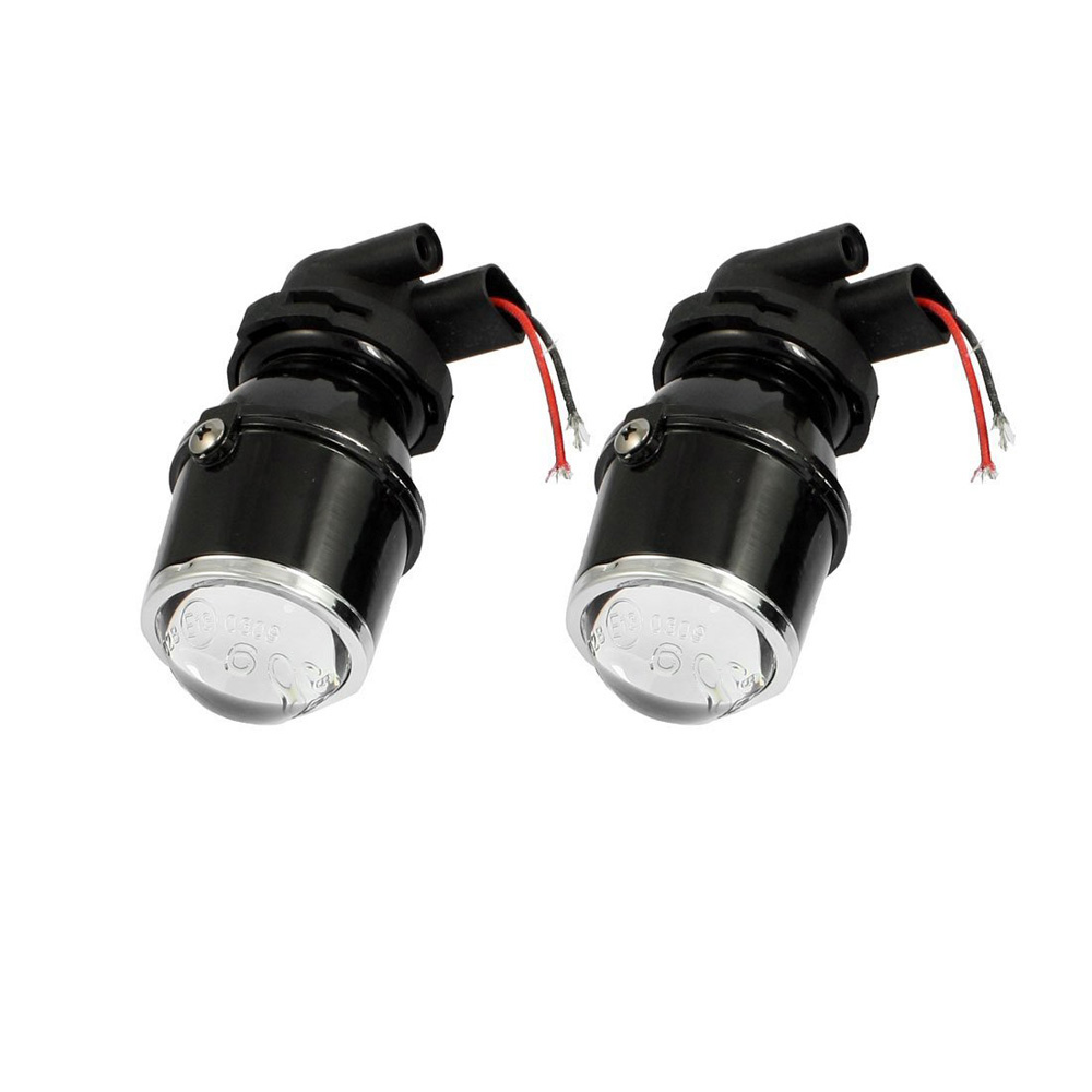 USA Delivery New 2 Pcs 55W H3 Universal HID Xenon Halogen Fog Light Bulb Lamp Car Auto Lens(China (Mainland))