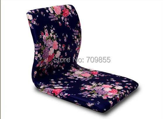 (4pcs/lot ) Meditation Chair Green Peony Design Asian Antique Furniture Living Room Japanese Floor Legless Tatami Zaisu Chair(China (Mainland))