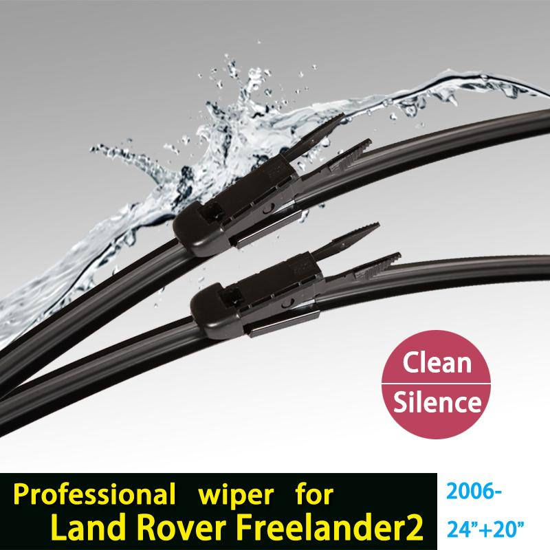 """wiper blades for Land Rover freelander 2 (2006 onwards) 24""""+20"""" fit pinch tab type wiper arms only HY-017(China (Mainland))"""