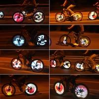 100 Modes 5 GIF Pictures Sensor Bicycle Wheel Light 216 RGB LED Spoke Light Color Changing DIY Bike Bicycle Spokes Light