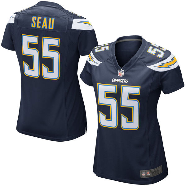 Women's Junior Seau Jerseys NFL San Diego Mitchell & Ness Player Football Jersey - Navy(China (Mainland))