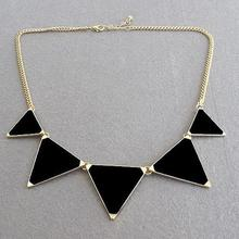 Hot &Black geometrical Triangle Necklace Jewelry for women free shipping