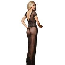 Wholesale long sheer nightgown
