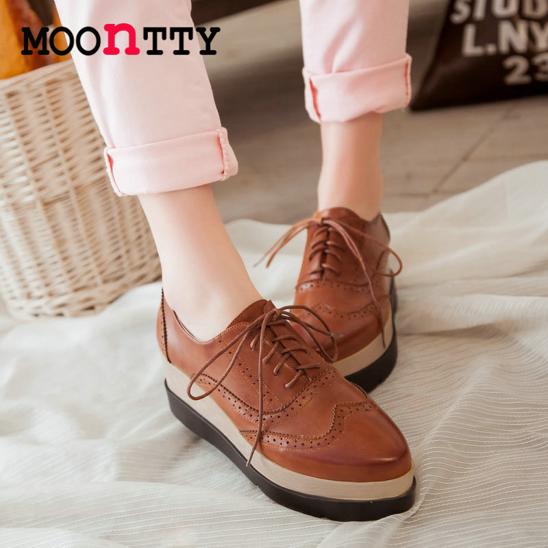 MOONTTY Lace Up Pointed Toe Women Pumps Lace Pu Soft Leather Wedges High Heels Autumn/Spring Miss Party Shoes Size 34-39 Yellow<br><br>Aliexpress