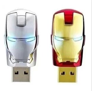 Hot sale! Real capacity Avengers Iron Man Metal usb flash drive 2GB 4GB 8GB 16GB 32GB USB 2.0 Flash Memory Stick Drive pen drive(China (Mainland))