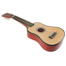 2016 New 21 Inch 6 String Acoustic Guitar Red and Orange Beginners Practice Musical Instrument FCI#(China (Mainland))