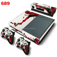 Decal Skin For Xbox One Console Cover For Microsoft Xbox One Skin Stickers+ 2Pcs Controller Protective Skins Marvel Deadpool