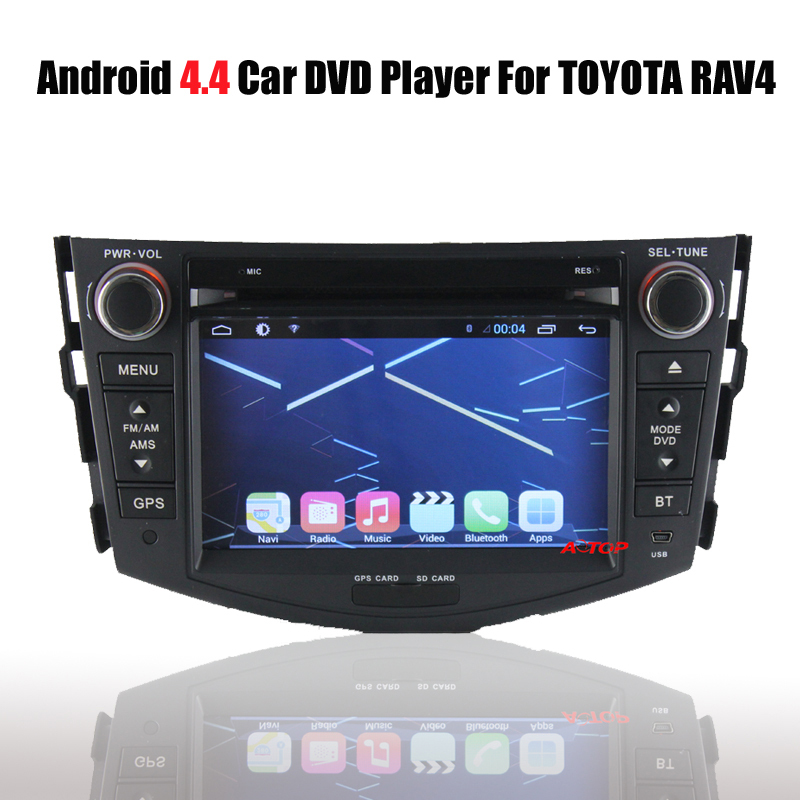 Capacitive Multipoint Touch Screen Support Steering Wheel Control Pure Android 4.4 Car Dvd Gps Player Built-in ATV IPOD RAV4 - ATOP INTERNATIONAL store