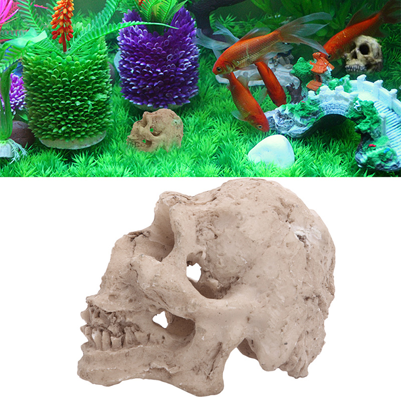 Online buy wholesale skull aquarium ornament from china for Fish tank skull decoration