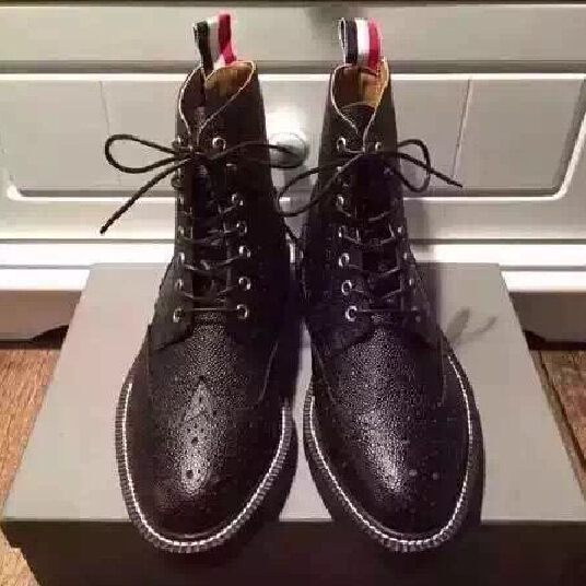 Exclusive customized High Top TB luxury NEW YORK Bullock martin Boot flag ribbon genuine leather catwalk fashion shoes(China (Mainland))