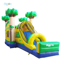 Cheap Jungle Inflatable Bouncing Castles Combo with Slide for Adults(China (Mainland))