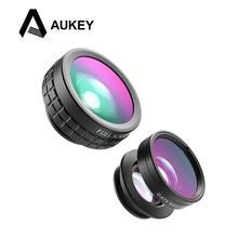 AUKEY 3 in 1 Clip-on Cell Phone Camera Fish eye Lens 180 Degree Fisheye Lens+ Wide Angle Lens+10 X Macro Lens for iPhone Samsung(China (Mainland))