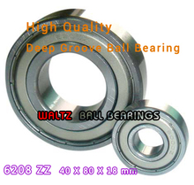 Buy 40mm Aperture High Deep Groove Ball Bearing 6208 40x80x18 Ball Bearing Double Shielded Metal Shields Z/ZZ/2Z for $6.50 in AliExpress store