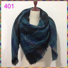 Za winter oversize plaid new designer blanket unisex acrylic wrap cashmere scarf shawl pashmina for spring fall 140x140CM(China)