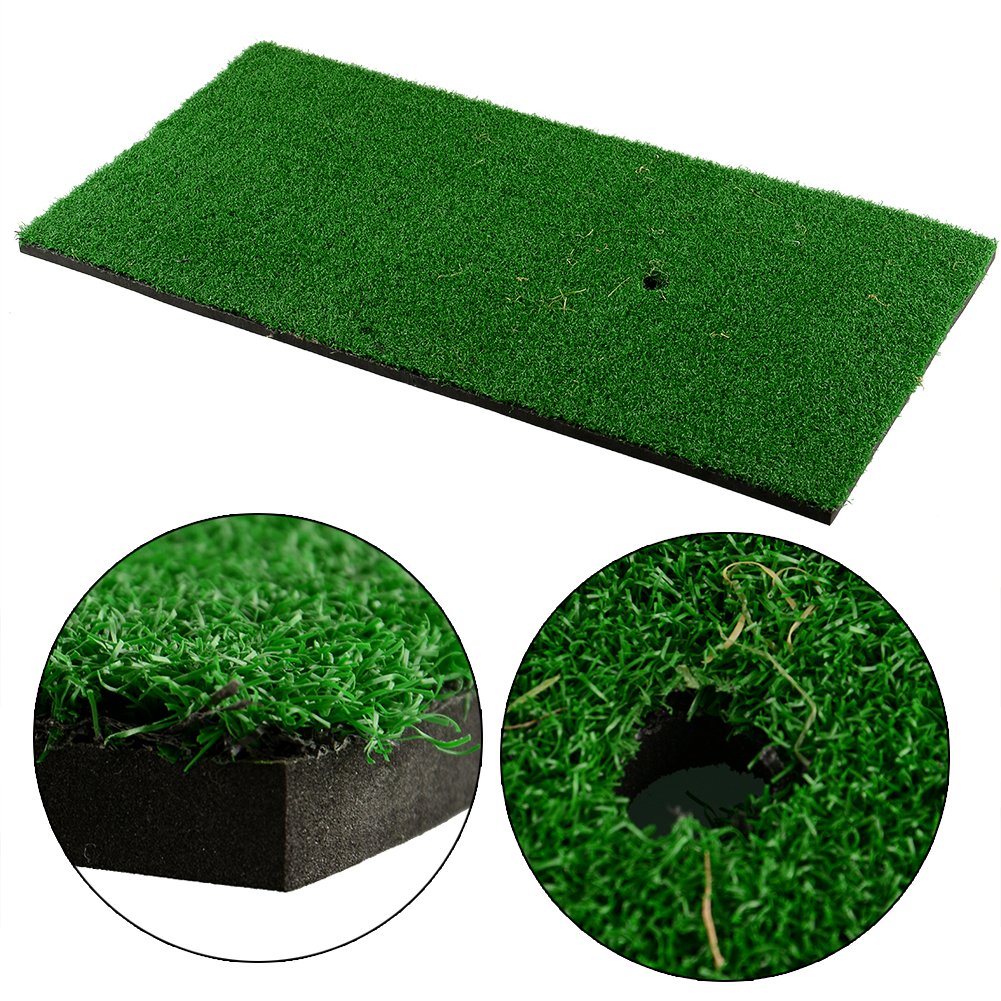 Backyard Golf Mat 60x30cm Residential Training Hitting Pad Practice Rubber Tee Holder Grass Indoor Free Shipping(China (Mainland))