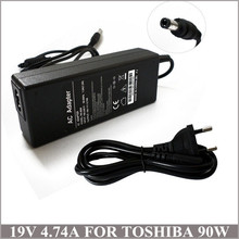 19V 4.74A 90W AC Adapter Laptop Charger Carregador Portatil For Toshiba Satellite C840 C850 C850D C855 C855D