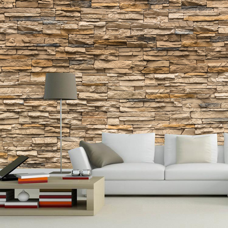 Custom size 3d wallpaper mural brick vintage for walls for Antique mural wallpaper