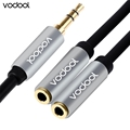 VODOOL 2 in 1 3 5mm Stereo Audio Cable Copper Core Adapter Male to 2 Female