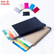 Automatic Pop Up Click Slide Card Holder Thin Metal RFID Card Protector Cases Slim aluminium Credit Card Holder Wallet(China (Mainland))