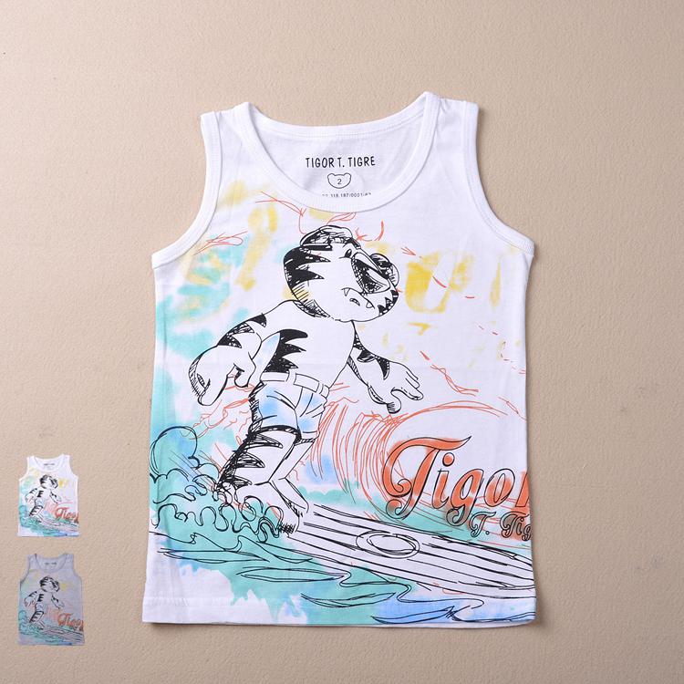children Brand 2015 new Fashion boys clothes kids Sleeveless O-Neck Cartoon boy's t shirt 2-10Yrs - Yongsheng Trading Co., LTD. store