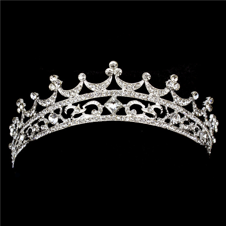 2015 Clips For Hair Fashion Tiara And Crown Princess For Wedding Bride Quinceanera Tiaras Bridal Headpiece Elegant Hair Jewelry(China (Mainland))