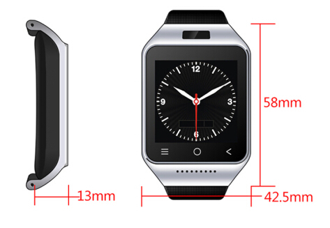 2015 Dual Core Wrist Consumer Electronics Android 4 4 Watch 3G CDMA GSM GPS Casual