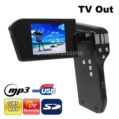 DV021 3.0 Mega Pixels 4X Zoom 2.4 inch TFT LCD Screen Digital Video Camera,Support MP3/ MP4/ TV Out, Max Pixels: 5.0 Mega pixels
