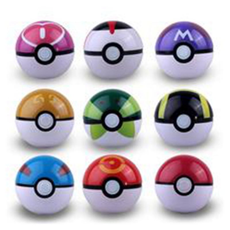 10pcs/lot (only ball) Poke Ball ABS Anime Action Figures Poke PokeBall Toys Super Ball Toys(China (Mainland))