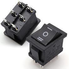 Buy High AC 6A/250V 10A/125V 5X 6Pin DPDT ON-OFF-ON Position Snap Boat Rocker Switch P0.16 for $1.10 in AliExpress store