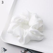 1PC Silky Satin gumki do włosów kobiety elastyczne gumki do włosów jasny kolor kucyk Holder akcesoria do włosów stałe liny krawaty nakrycia głowy(China)