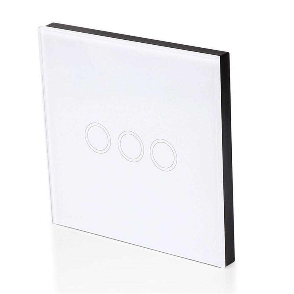 EU/UK Standard Waterproof  Touch Switch Wall Light Switch Remote control Control Light Switch Touch Button 1/2/3 Gang 170V~240V