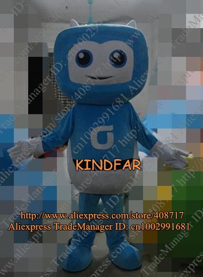 T.V. Mascot Costume Television TV Set Goggle-box Telly Televisor Robot Character No.3868 Free Ship(China (Mainland))