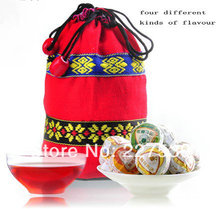 Promotion mini Tuo tea pu erh tea chinese Colorful Yunnan Tuo 4 kinds flavor 16pcs gift