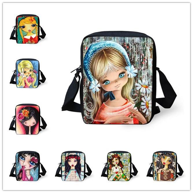 fashion women messenger bags cute santoro gorjuss girl bag casual crossbody bags for girls outdoor travel small shoulder bag(China (Mainland))