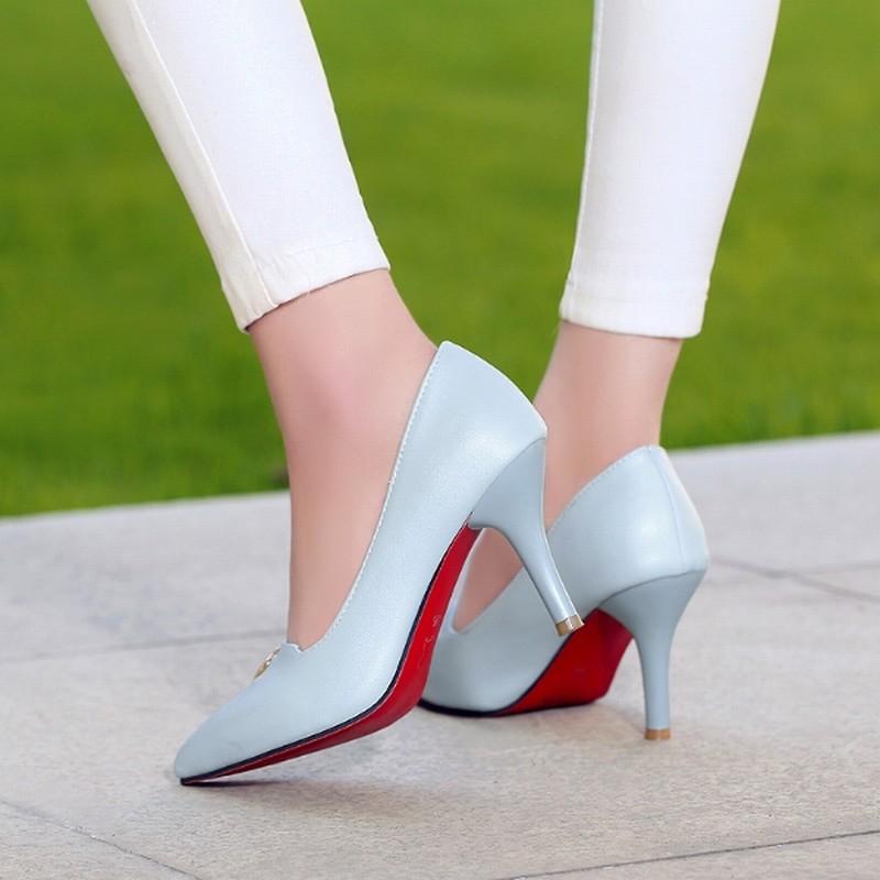 2016 New Rhinestone Red Bottom High Heels Platform
