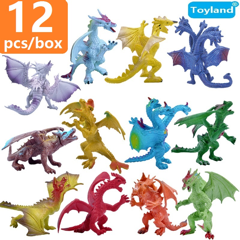Super Quality Jurassic Park World Play Toys 12 pcs/lot Best Education Dragons Toy Set Plastic Dinosaur Model Action and Figures(China (Mainland))