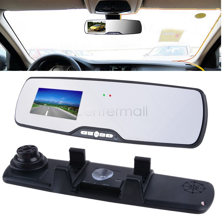New 2.7 HD 1080P Car Camera DVR Rearview Mirror Car Recorder 140 Wide-angle Lens Auto Video Recording TF Card #7 SV004203(China (Mainland))