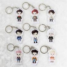 Youpop KPOP EXO EXO-M EXO-K EXODUS Album Cartoon Acrylic Key Chain Plastic K-POP Fashion Personalized Key Ring Pendant YSK327(China (Mainland))