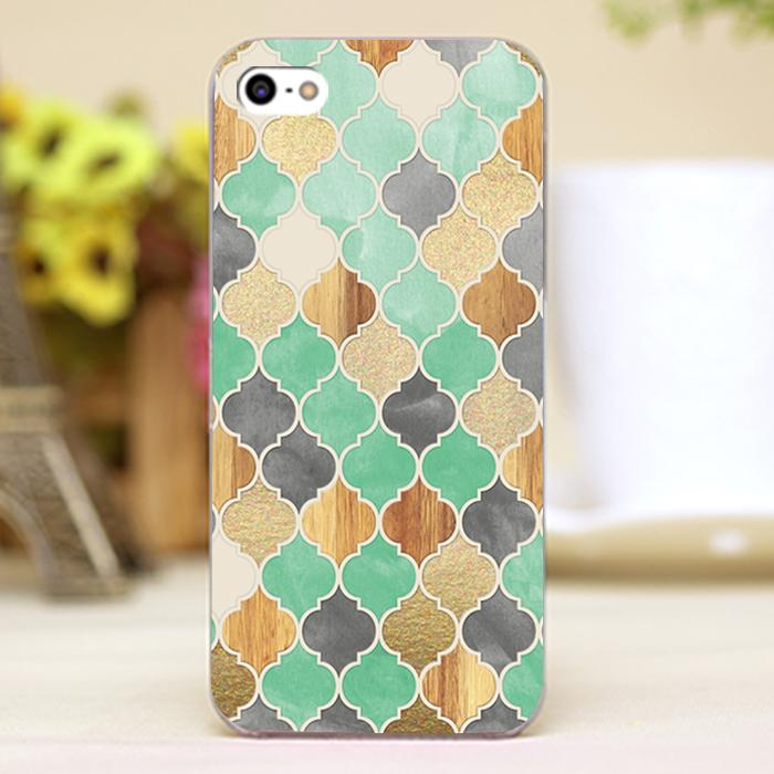 Charcoal Mint Wood Gold Moroccan Pattern Design font b case b font cover cell font b