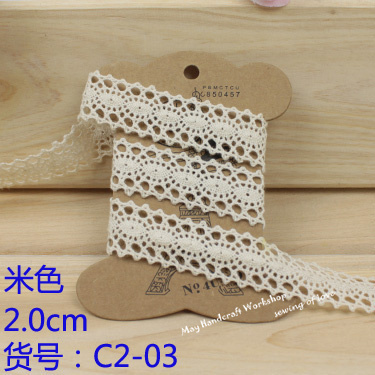 New!24 pattern for choose Lace Tape Decoration Cotton Lace Trim Wedding Cluny Flower Trim,50 yards/Lot>>C2-3 ,Free shipping